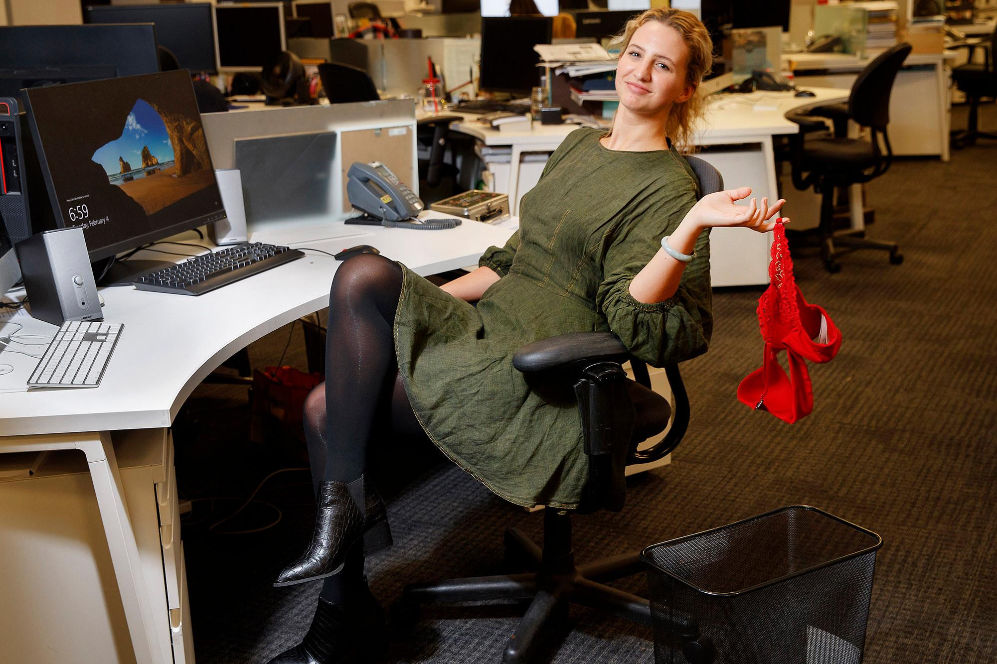 女人不穿胸罩上班錯了嗎?